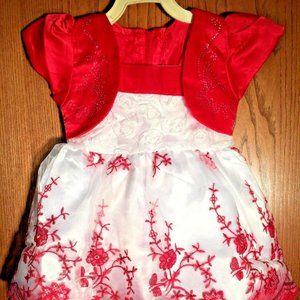 WHITE RED & SPARKLE YOUR ANGEL LOVE SIZE 12M -18M